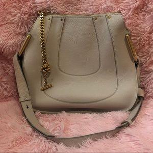 Chloe Natural Hayley leather / Suede Shoulder Bag
